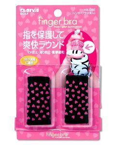 Dayia Finger Bra in schwarz und pink stabilisiert wie ein Tape und ist ein tolles Geschenk für Golfer Detailansicht