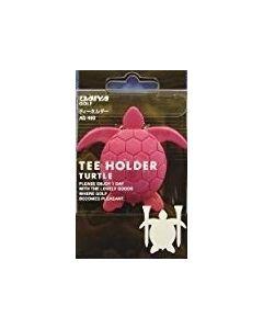 Daiya Tee Holer Schildkröe pink für 2 Tees als Golf Zubehör Detailansicht