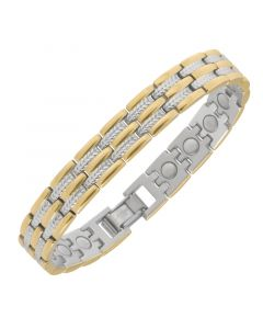 Sabona of London Damen Magnetarmband Regal Duett aus Edelstahl im bicolor Design Detailansicht