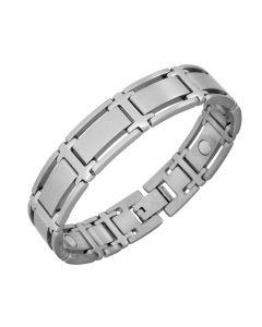 Sabona of London Herren Magnetschmuck Armband Symmetry Silber aus Edelstahl Detailansicht
