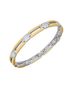 Sabona of London Magnetschmuck Armband Lady Slim Bar für Damen aus Edelstahl im bicolor Design Detailansicht