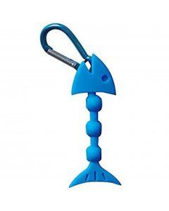 Dayia Tee Holder Fisch blau für 3 Tees als tolles Geschenk für Golfer Detailansicht
