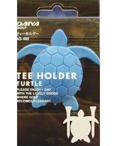 Daiya Tee Holder Schildkröte blau für 2 Tees als Golf Accessoire Detailansicht