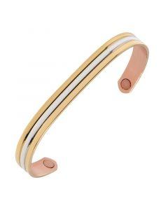 Sabona of London Kupferarmband Classic Gold Duett mit Magneten und bicolor Design Detailansicht