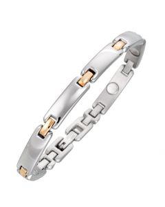 Sabona of London Magnetschmuck Armband Lady Duett für Damen aus Edelstahl und bicolor Optik Detailansicht