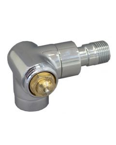 "Oventrop Thermostatventil""Baureihe E"" DN15, 1/2"", PN10, Wi.-Eck li, verchromt, 1163452"